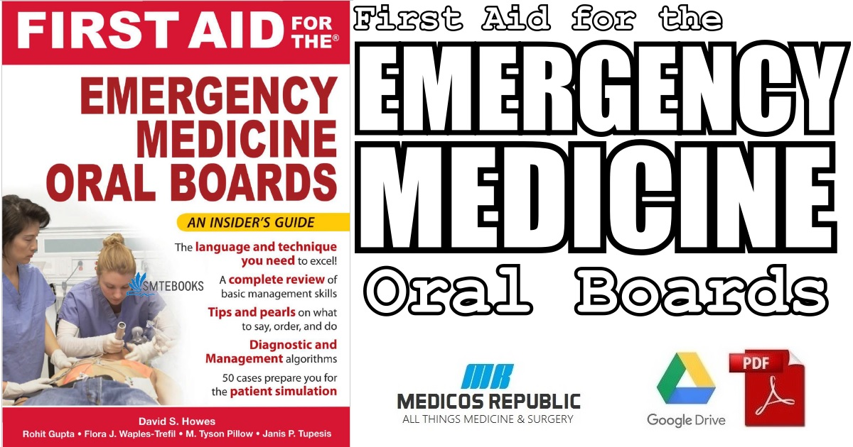 First Aid for the Emergency Medicine Oral Boards 1st Edition PDF