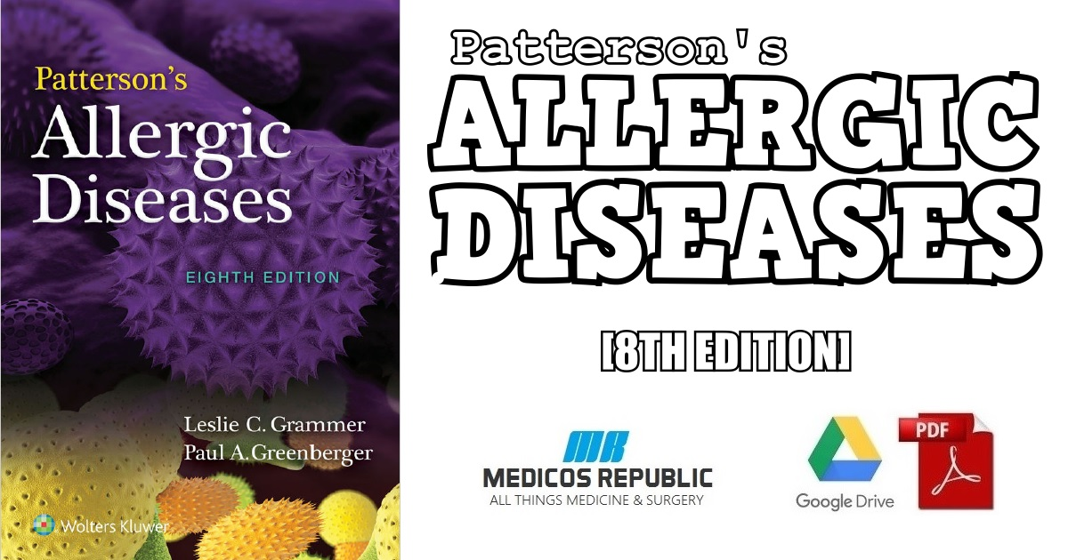 Patterson's Allergic Diseases 8th Edition PDF