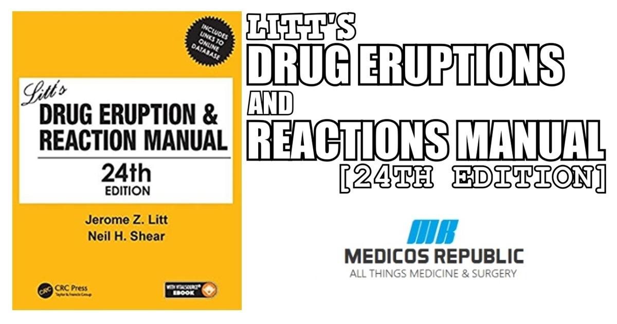 Litt's Drug Eruption & Reaction Manual 24th Edition PDF