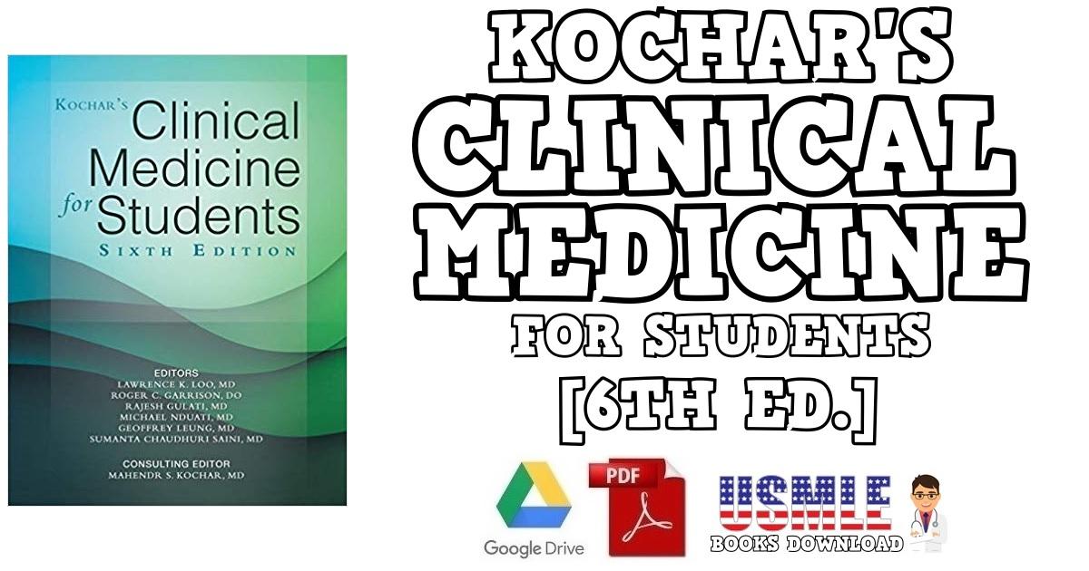 Kochar's Clinical Medicine for Students 6th Edition PDF